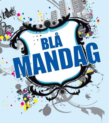 Blå mandag. Blå mandags logo.