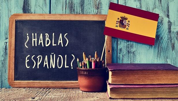 Spansk. Spansk skrevet på kridttavle